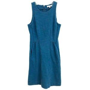 Madewell Keynote Dress teal fit & flare knit